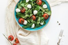Spring salad with lamb's lettuce