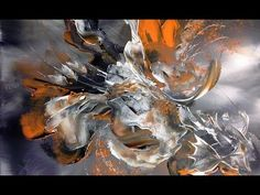 Abstract acrylic painting - Démonstration peinture abstraite (10) - Althea - YouTube