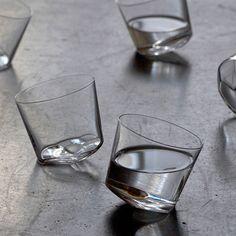 かたむくグラス。 YAMASAKI DESIGN WORKS カンナグラス   まとめのインテリア - デザイン雑貨とインテリアのまとめ