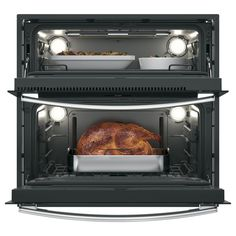 GE Profile 30 in. Double Electric Self-Cleaning Built-In Wall Oven in Stainless Steel with Twin Flex Convection