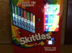 """A machine that allows you to create your own custom bag of Skittles. 