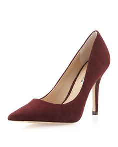Sway II Pointy Suede Pump, Plum by Charles David at Neiman Marcus Last Call.