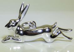 925 Solid Sterling Silver Leaping Hare Charm Pendant   | eBay