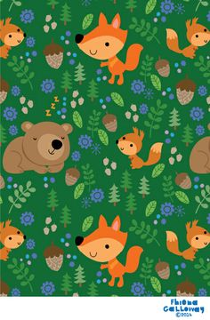 fhiona galloway illustration blog: in the woods