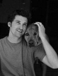 Patrick Dempsey and dog