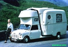 Euxton Caraboot, built by Euxton Coach Craft in the village of the same name in Lancs Vintage Motorhome, Vintage Trailers, Mini Cooper Classic, Classic Mini, Classic Cars British, Classic Campers, Mini Camper, Car Camper, Camper Van