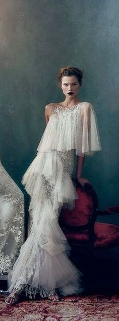 stunningly beautiful dress...Glamour Gowns / karen cox.Marchesa Bridal - Vogue February 2013