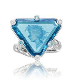 High Jewelry, Jewelry Accessories, Wallace Chan, Female Profile, Fashion Handbags, Blue Topaz, Diamond Cuts, Diamonds, Jewelry Making