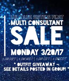 Check out this brand new multi-consultant sale!  #lularoesale #lularoemulti #lulablue #lularoeconsultant #lularoesaletoday