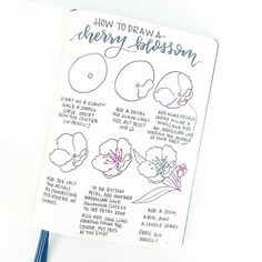 By popular request: how to draw a cherry blossom! Happy #FlowerFriday . . You'll definitely be finding these throughout my may spreads! Enjoy, and have a great weekend