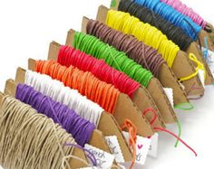 READY TO SHIP | Colored twine hemp fiber cord 20 yards 100% natural. Colorful string supplies for gift wrapping choose your colors