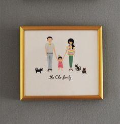Custom family portrait by Anna Bond, Rifle Paper Co.
