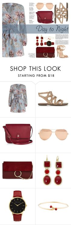 """Day to Night: Rompers"" by katsin90 ❤ liked on Polyvore featuring Zimmermann, Sam Edelman, Nina Ricci, Linda Farrow, Chloé, Monet, Larsson & Jennings, Gucci, Gianvito Rossi and Avenue"