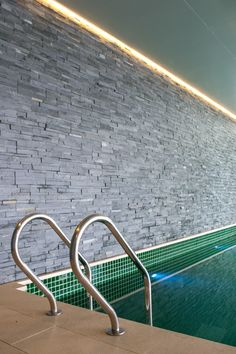 Inner pool at Spa-Clubhouse, Garden Valley - Mei Jie Mountain Hotspring resort in Liyang, China. by AchterboschZantman architecten