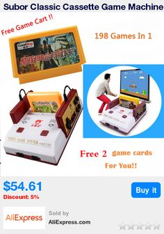 Subor Classic Cassette Game Machine D99 +198 IN 1 Nostalgia Original Family Video TV Game Console Player With 2 gamepad jeux * Pub Date: 11:51 May 30 2017