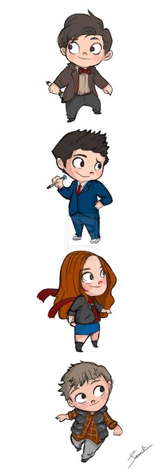 So cute chibi eleventh doctor | Chibi Doctor Who by Violet1202