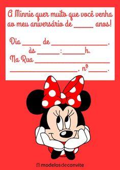 40 Convites da Minnie Vermelha para Editar e Imprimir! – Modelos de Convite Minnie Birthday, Minnie Mouse, Disney Characters, Fictional Characters, Maria Clara, Wattpad, Design, Pictures, I Love