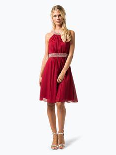 Sukienka na wesele.  Cudna sukienka w rozkloszowanym fasonie, bez rękawów. Kreacja w kolorze czerwonym, marki Marie Lund. Posiada połyskujące perełki w dekolcie i talii, co sprawia, że dodatkowa biżuteria nie jest już potrzebna. Sukienka zapinana jest z boku na haftkę i suwak. Posiada satynową podszewkę. Krój ładnie dopasowany w talii. Mario