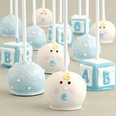 Handmade Baby Boy Cake Pops