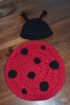 Lady bug newborn set