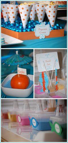 Cute color combos.  Love the clementine as a design/deco idea.