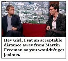 Benedict Cumberbatch + Martin Freeman + Hey Girl Meme = Pure Awesome