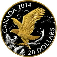 2014 Canada Silver Perched Bald Eagle 1oz PF in OGP