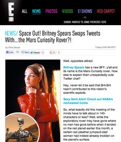 E! Online Covers Britney & the Mars Rover's Twitter Exchange