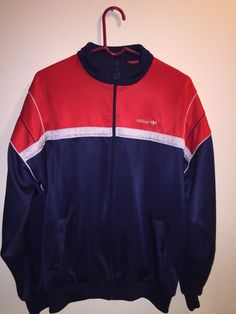 8a5f8f464b5e Beautiful Vtg Adidas track jacket Red