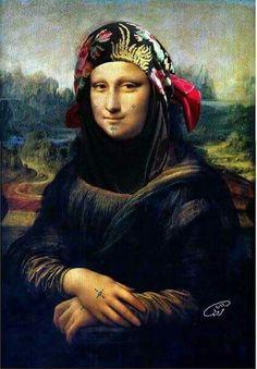Monaliza in jordanian costume