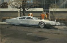 """""""Future Rolls Royce,"""" painted by Syd Mead in 1967."""