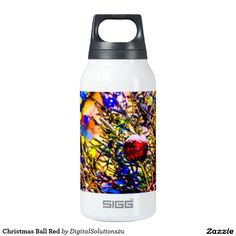 Christmas Ball Red Insulated Water Bottle