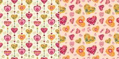 Hand Drawn Hearts Pattern Vector Background - http://www.dawnbrushes.com/hand-drawn-hearts-pattern-vector-background/