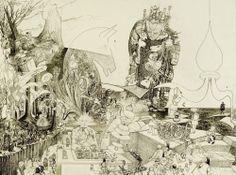 """""""Machineries"""" Encres / papier 12P (61 x 46) 16/04/2002 inachevé"""