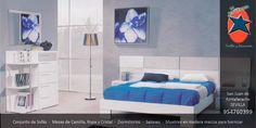 #Dormitorio #matrimonio en #Sevilla. #Muebles y #Decoración La Ponderosa en San Juan de Aznalfarache, #Andalucía #Azul
