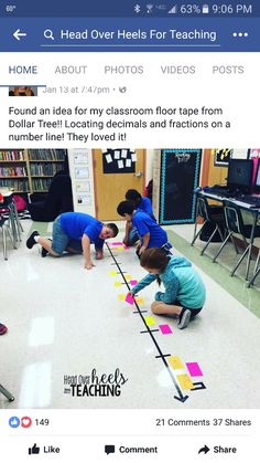 ~Love this for finding Equivalent fractions-anything to get them up & more engaged. #noworksheets