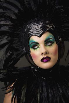 Acid Showgirl #fantasy #makeup