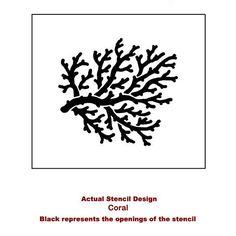 Coral Stencil Medium Stencils even better by CuttingEdgeStencils