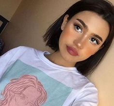 Short Bob Synthetic Lace Front Wigs for Women L Part Black Color Light Yaki Straight Heat Resistant Synthetic Hair Replacement Wigs Pretty Hairstyles, Bob Hairstyles, Popular Short Hairstyles, Straight Hairstyles, Curly Hair Styles, Natural Hair Styles, Remy Human Hair, Cheap Human Hair Wigs, Grunge Hair