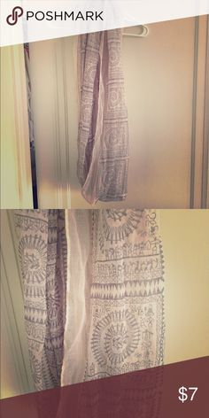 Tribal print scarf Gray tribal print scarf from PAC sun PacSun Accessories Scarves & Wraps