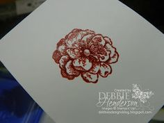 Debbie's Designs: Tuesday Tips or Techniques-Embossing in Color!