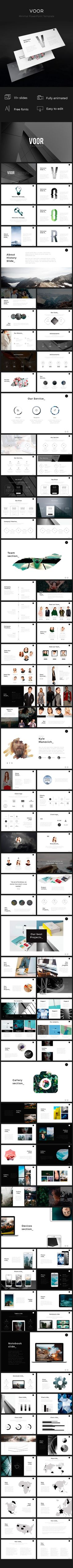 Clean & Trend Voor PowerPoint Template  #design #gallery • Download ➝ https://graphicriver.net/item/clean-trend-voor-powerpoint-template/18661779?ref=pxcr