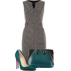 A fashion look from September 2014 featuring Lands' End dresses, Christian Louboutin pumps y Pour La Victoire tote bags. Browse and shop related looks.