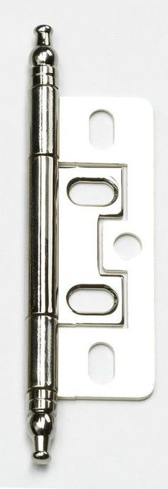 Schaub and Company 1100M Non-Mortise Solid Brass Cabinet Butt Hinge with Minaret Polished Nickel Cabinet Hinges Inset Hinges Butt Hinges