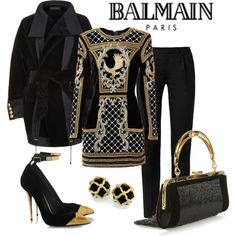 Balmain x H&M Top by romaboots-1 on Polyvore featuring Balmain and Yves Saint Laurent