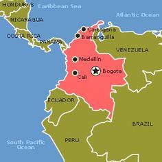 Colombia Map - Visit: Ibague, Salento, Manizales, Medellin