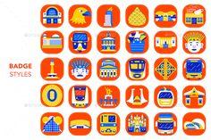 City Vector, Eps Vector, Vector File, Vector Icons, Jakarta City, Badge Icon, Social Media Calendar, Mobile App Design, App Icon