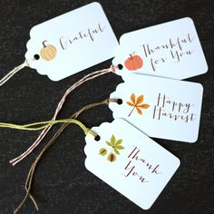 Happy Harvest Tags - The Twinery