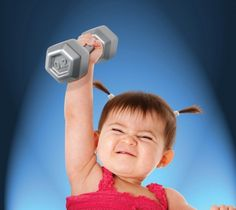 Fred and Friends Buff Baby: Dumbell Rattle