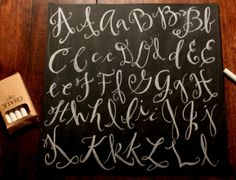 Lettering Part 2 – Chalkboard Tutorial » Talk of the House